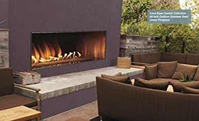 "Outdoor 60"" SS Manual Ignition Linear Fireplace - Natural Gas"