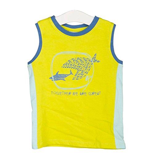 Fish Kids Ringer T-shirt (Tuc Tuc Little Boys' Fish Attack Ringer Tank Top in Pistachio 6Y)