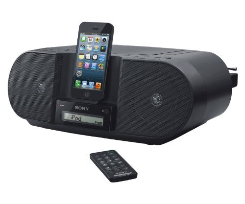 Sony ZSS3IPN Lightning iPhone/iPod Portable CD Radio Boombox Speaker Dock (Black)