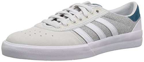 Premier Youth Panel - adidas Originals Men's Lucas Premiere Skate Shoe, White/MGH Solid Grey/Real Teal, 10.5 M US