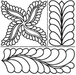 StenSource Bulk Buy Quilt Stencils by Pepper Cory C. L. Fab Feathers 17 inch x 20 inch PC-1911 (2-Pack) by Sten Source