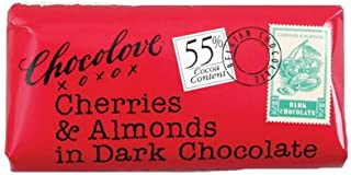 product image for Mini 55% Dark Chocolate Cherries & Almonds Bar in Display: 12 Count