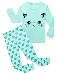 Girls 100% Cotton Pajamas Mermaid Pjs Childrens Clothes Set Kids Sleepwear