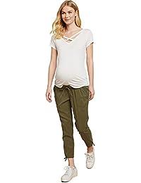 Jessica Simpson Under Belly Twill Slim Leg Maternity Crop Pants