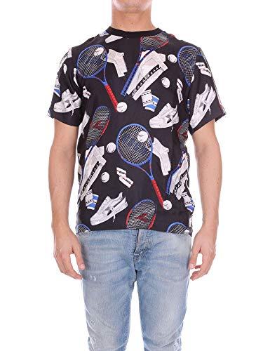 - MSGM X DIADORA Men's 2440Mm315184192 Multicolor Cotton T-Shirt