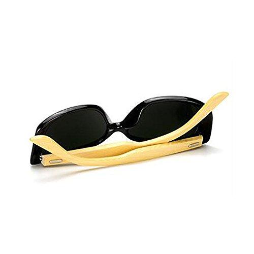 et lunettes pour classique film soleil lunettes couleur de femmes Bamboo soleil de hommes bambou pieds C2 pieds 5w1qTI76