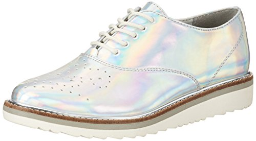 Silver Tozzi Marco para de Mujer 941 Plateado Oxford Zapatos Cordones 23708 zxCqgCawd