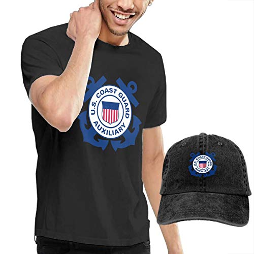 United States Coast Guard Auxiliary Boy Fashion Short Sleeve T Shirt and Cowboy Hat Tees - United States Guard Auxiliary Coast