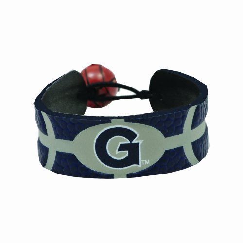 NCAA Georgetown Hoyas Team Color Gamewear Leather Basketball Bracelet (Hoyas Georgetown Ncaa Basketball)