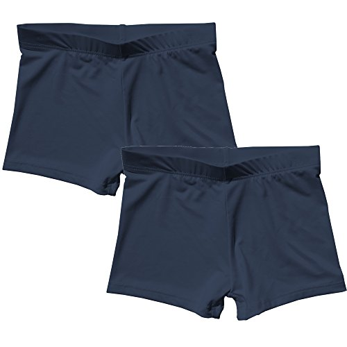 - Popular Girl's Premium Playground Shorts - 2 Pack - Navy - M