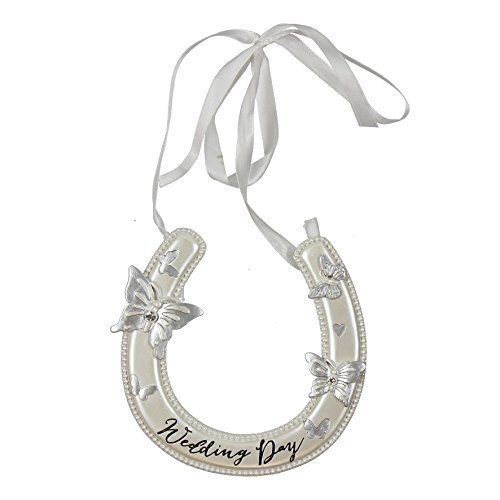 Wings of love Wedding Day Good Luck Resin Horseshoe Horse Shoe
