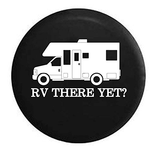 Pike RV There Yet? Recreational Vehicle Camper Trailer RV Spare Tire Cover OEM Vinyl Black 29 in by Pike Outdoors