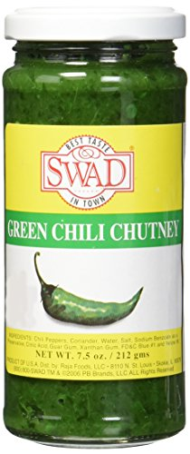 Great Bazaar Swad Chilli Chutney, Green, 7.5 Ounce ()