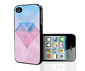 Pink and Blue Cotten Candy Backgroud with Pretty Diamond Hard Snap on Phone Case (iPhone 4/4s)