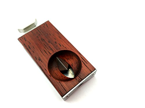 (CiGuru CC012 Stainless Steel V-Cut Cigar Cutter)