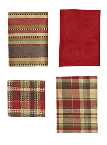 (Park Designs Timber Ridge Set 3 Dishtowel, 1 Dishcloth )