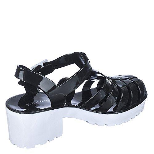 Sandalo Di Bambù Fragola-01 Nero / Bianco