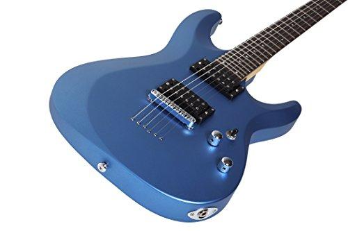 Schecter 431 C-6 Deluxe Solid-Body Electric Guitar, Satin Metallic Light Blue