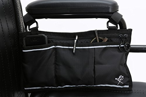 - Pembrook Wheelchair Side Bag - Black - Great Accessory for your mobility devices. Fits most Scooters, Walkers, Rollators - Manual, Powered or Electric Wheelchairs