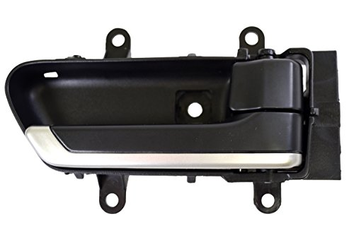 PT Auto Warehouse NI-2907A-RH - Inside Interior Inner Door Handle, Black Housing with Silver Insert Lever - Passenger Side