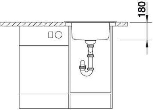 45 cm Encastrable 513314 Acier inoxydable toil/é L2 Blanco /Évier Blancorondoval