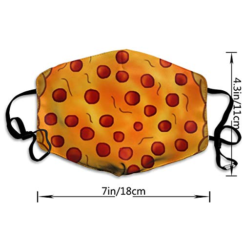 Dust Mask Funny Cartoon Pizza Fashion Anti-dust Reusable Cotton Comfy Breathable Safety Mouth Masks Half Face Mask for Women Man Running Cycling Outdoor