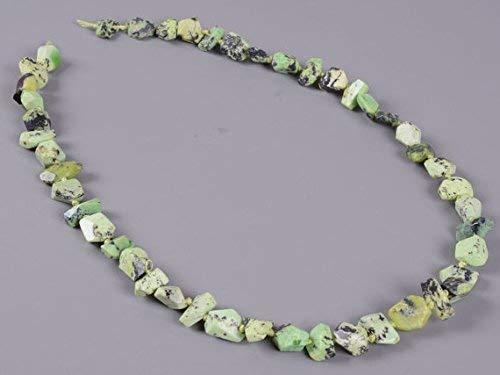 - Faceted Australian Lemon Chrysoprase Nugget Irregular Knotted Loose Gemstone Beads 16.5