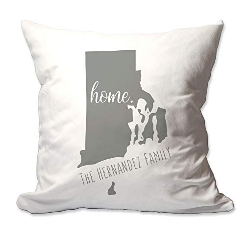 Pattern Pop Personalized State of Rhode Island Home Throw Pillow Cover - 17X17 Throw Pillow Cover (NO Insert) - Decorative Throw Pillow Cover - Soft ()