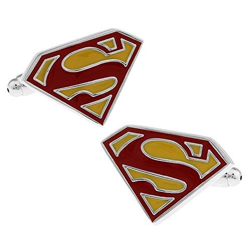 Men's Wedding Shirt Surper Hero Cufflinks (Red Superman)