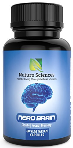 Naturo Sciences Nero Brain Booster Nootropic Supplement (60 Capsules) - Helps Improve Clarity, Focus and Memory - Fortifies Cognitive Development and Mental Performance - Made in the USA