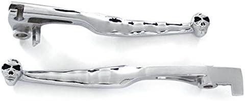 Krator Chrome Clutch Brake Skeleton Skull Hand Levers For 2001-2004 Suzuki Marauder 800