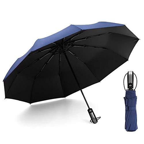 🥇 Paraguas Plegable Automático Paraguas de Viaje Portátil Paraguas de Sol 10 Armazones Compacto Resistencia UV & Impermeable