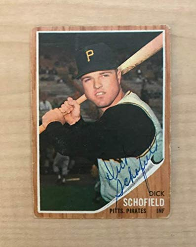 1962 Topps # 484 Dick Schofield Pittsburgh Pirates (Baseball Card) Dean's Cards 2 - GOOD Pirates
