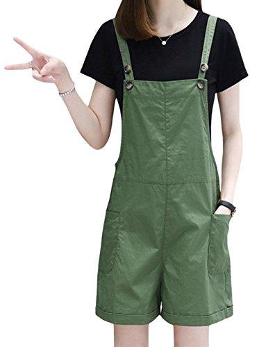 仕事支払う不機嫌そうなS-XINY サロペット レディース ショートパンツ 綿 無地 夏 薄手 おしゃれ ゆったり オールインワン オーバーオール 短パン 半ズボン カジュアル ファッション