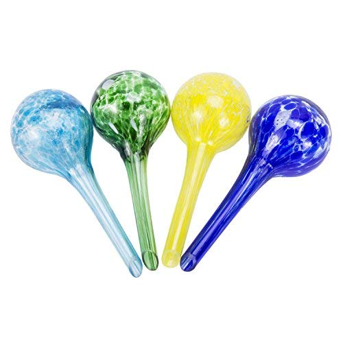 Gregarder 4 Pack Mini Glass Self Watering Globe Bulb Plant ()