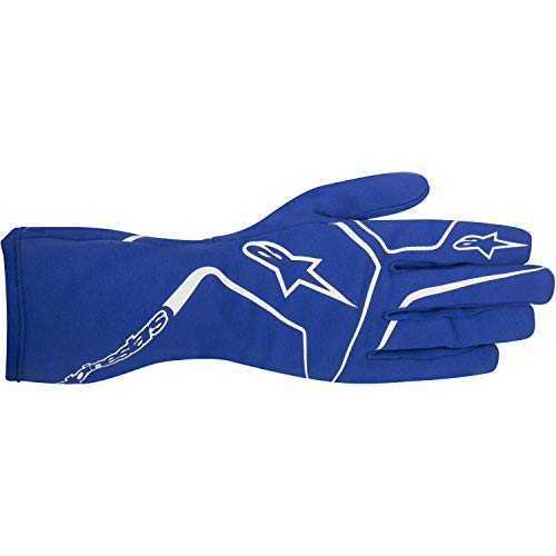 Alpinestars 3552717-70-S YTH TECH 1-K RACE GLOVES, BLUE, SIZE S (PR)
