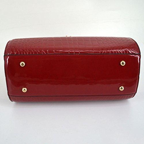 Millya - Bolso de tela para mujer rojo vino rojo vino