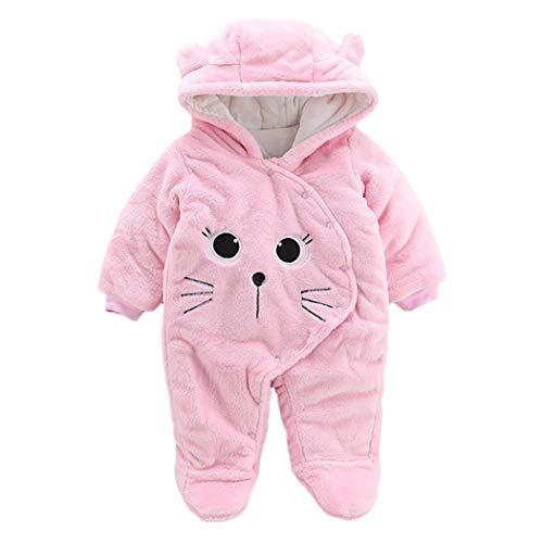 Baby Girl Return Address Labels - GINELO Newborn Baby Girl Boy Solid Cartoon Bear Velvet Hooded Jumpsuit Romper Clothes