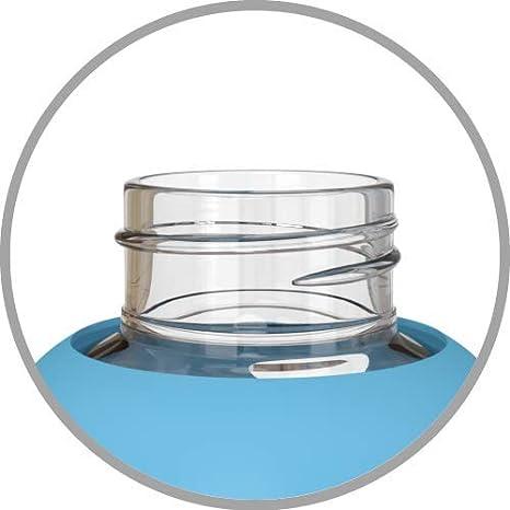 Be-Active Botella de Agua Motivacional de Vidrio de 1 litro con Tiempos de Bebida Hidratado BPA Libre 1l