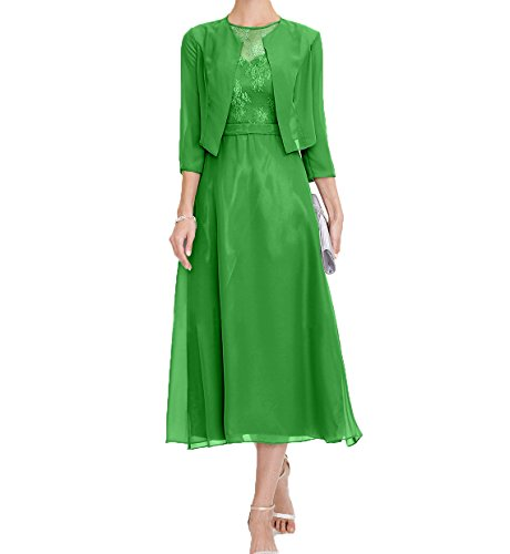 Damen Jugendweihe Festlichkleider Abendkleider Damen Wadenlang Kleider Charmant Grün Mutterkleider Brautmutterkleider 6BqvSdO