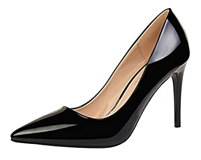 T&Mates Womens Fashion Pointed Toe Pumps High Heel Stiletto Sexy Slip On Dress Pumps Basic Shoes