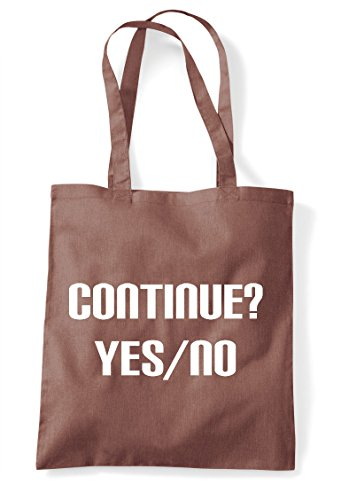 Statement Game Shopper Tote Chestnut Option No Bag Yes Gaming Continue End IHnYaRwnq