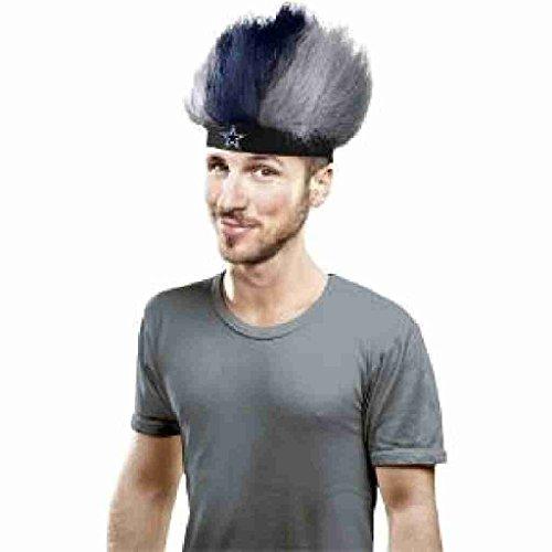 NFL Dallas Cowboys Fuzzy Head Wig, 10.5-Inch x 6-Inch, Blue