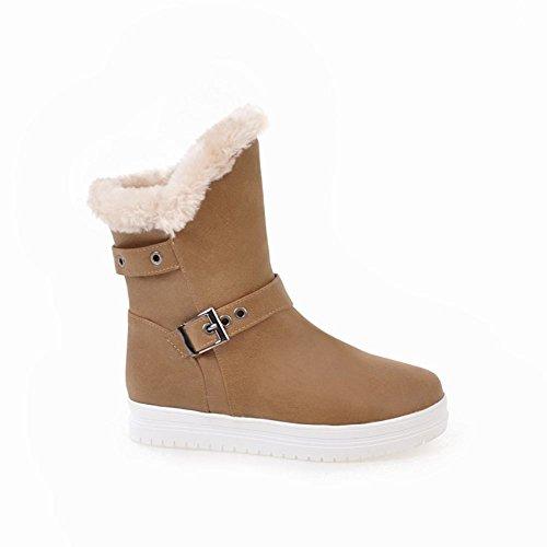 Latasa Womens Flat Cold Winter Jodhpur Boots Albicocca