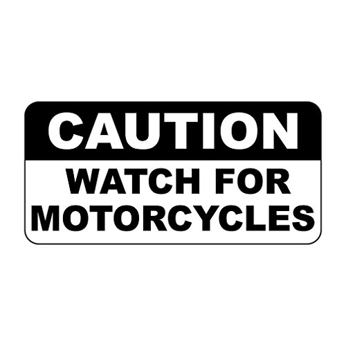 Caution Watch for Motorcycles Retro Vintage Style Sign Vinyl Sticker Decal - Motorcycle Comp