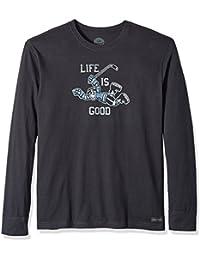 Men's Crusher Long Sleeve Hockey Score Lig Ngtblk T-Shirt,