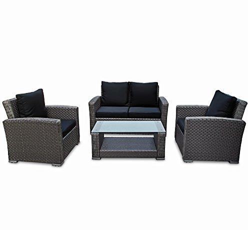 Wicker Sofa For Sale Uk: Deuba Poly Rattan Garden Furniture Set Outdoor Patio