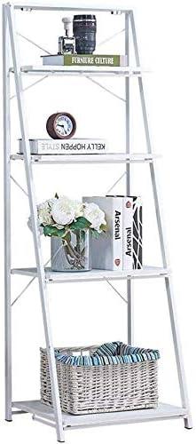 AGWa Estantes estante de la vendimia Escalera Portátil estante plegable de muebles de madera con marco de metal estante para libros: Amazon.es: Bricolaje y herramientas