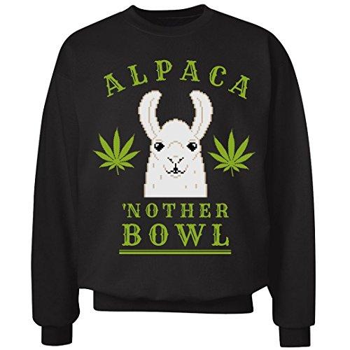 New Jumper Mens Smoke (FUNNYSHIRTS.ORG Alpaca'nother Bowl Llama Green: Unisex Ultimate Crewneck Sweatshirt)