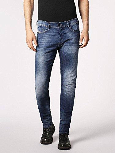 Diesel Men's Jeans Tepphar Slim Fit Cotton Vantage Blue Mid-Rise 00CKRI- 084GR (W 30 - L 32) ()